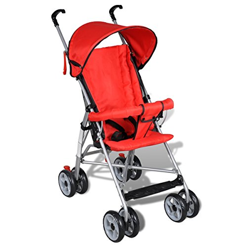 Contemporary Jet Stroller Baby Toddler Travel Baby Buggy Infant Home Cycling Red