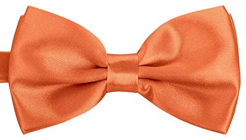 BomGuard Fliege Schleife verstellbar Unisex in Orange (Orange Fliege)