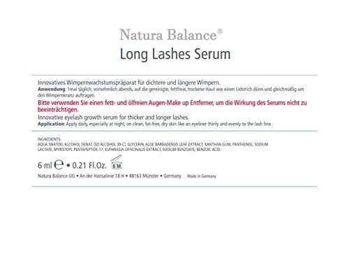Natura Balance Long Lashes Power Wimpernserum hormonfrei 6 ml Wimpern wachstum