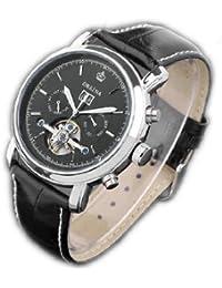 ORKINA YI-WAC14-03-210 - Reloj para hombres, correa de cuero color negro