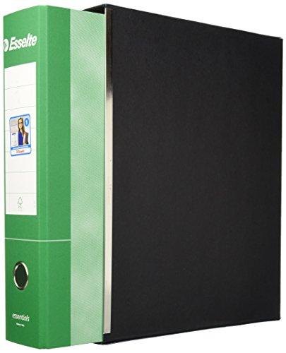Esselte Protocollo 390775180 - Raccoglitore con meccanismo a leva e custodia, Cartone, Dorso 8 cm, Verde, 1 pezzo