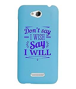 KolorEdge Back Cover For HTC Desire 616 - Sky Blue (2873-Ke15179HTC616SBlue3D)