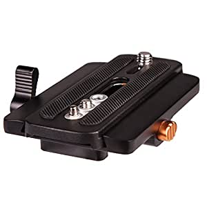 E-Image P6 Quick Release Adapter with manfrotto compatible Plate for monopods, stabilizer, Gimbals