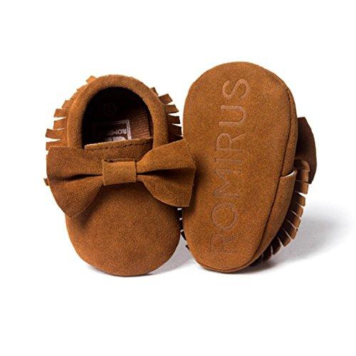 BZLine® Baby-Krippe Quasten Bowknot Kleinkind Sneaker Schuhe Kaffee