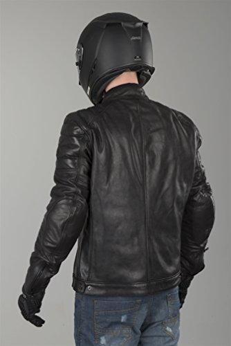 REVIT STEWART Herren Motorrad Lederjacke City – schwarz Größe 52 - 4
