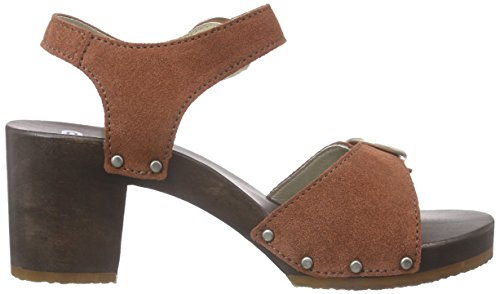 Berkemann - Adalie, Scarpe col tacco con cinturino a T Donna Marrone (Braun (414 rost))