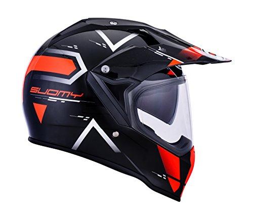 SUOMY Casco para Moto Integral Enduro Trail/Mx, Naranja (Road Orange),