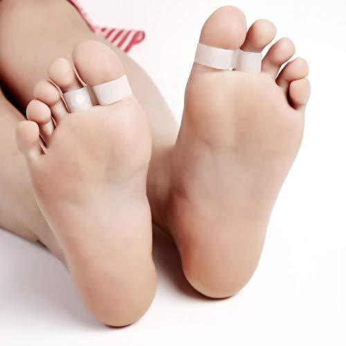 Ballylelly Anillo del dedo del pie que adelgaza de la pérdida de peso del anillo del dedo del pie de silicona dieta de adelgazamiento Doble