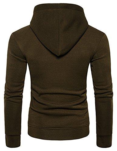 YCHENG Unisex Casual Kapuzenpullover Hoodie 3D Druck Motiv Sweatshirts Pullover mit Taschen Grün