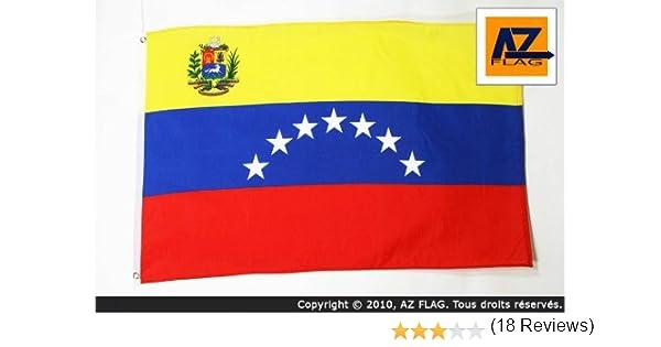 Drapeaux AZ FLAG Drapeau V/én/ézuela Ancien avec Ecusson 150x90cm Drapeau v/én/ézuelien 7 /étoiles 90 x 150 cm