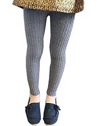Voilage à rayures verticales fille coton Legging Gris pour Femme 6–8x