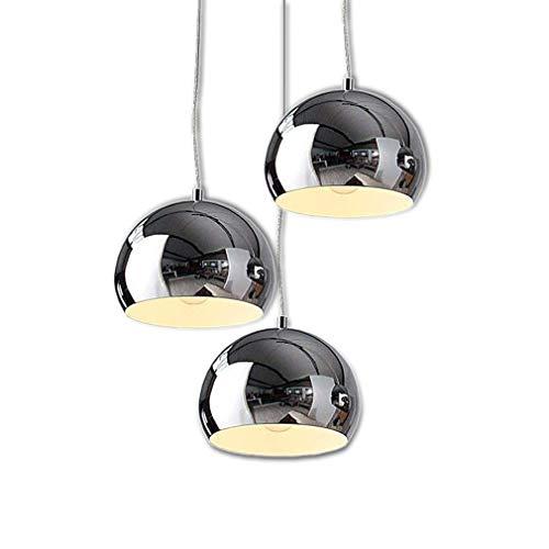 ● Esszimmer lampe kronleuchter moderne pendelleuchte deckenleuchte silber farbe chrom shadow anhänger hängelampe runde metall-regenschirm pendelleuchte for restaurant wohnzimmer, 3 & times;E27 ● -