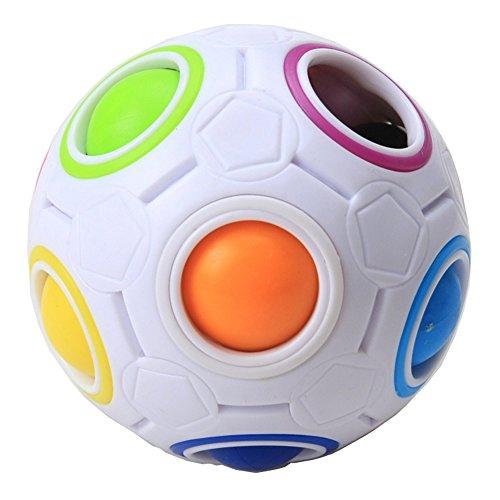 MZStech Magic Regenbogen Ball Magic Cube Puzzle Würfel Geschwindigkeit 11 Regenbogenfarben zu lösen