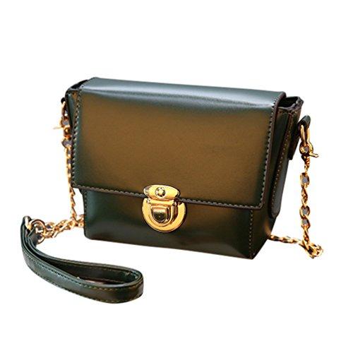 52da6ae4e9f55 Baymate Damen Elegant Umhängetasche Handtasche Satchel Messenger Purse Tasche  Grün. Obermaterial  Material PU-Leder ...