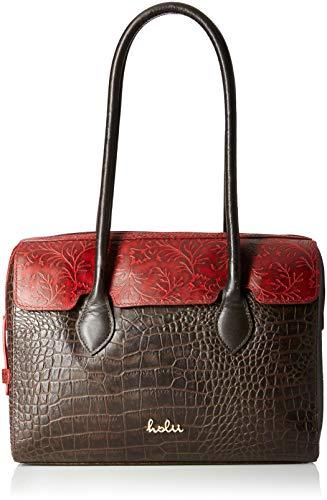 Holii Women's Handbag (Brown Red)