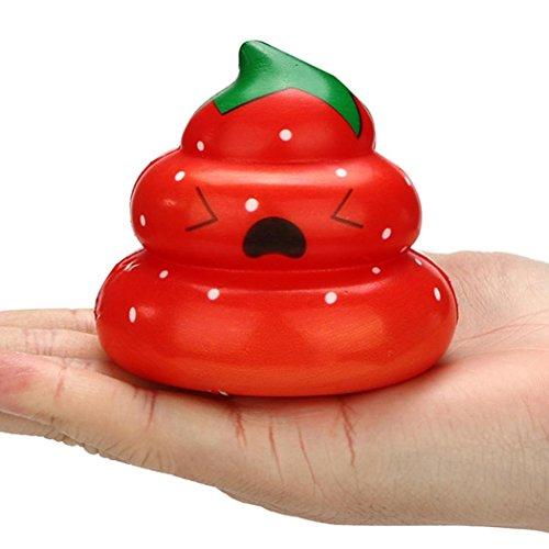 VENMO Exquisite Spaß Crazy POO Scented Squishy Charme Langsam Steigende 7cm Simulation Kid Spielzeug Fluffy Slime Spielzeug Kids Locker Floam Schlamm Scented Stress Relief Clay Toy (Random C)