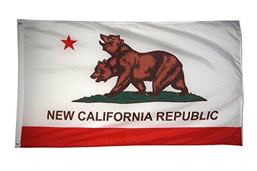 Zeit Roaming 3x 5ft New California Republic Polyester Flagge mit Messing Tüllen (Karten California)