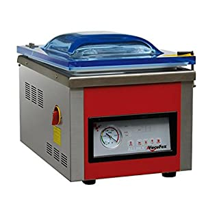Kammer Vakuumiergerät KV 260 von Allpax - 8 m³/h, 99% Vakuum - Nahtlänge 260 mm, Nahtbreite 5 mm - für Siegelrandbeutel bis 250 mm Breite