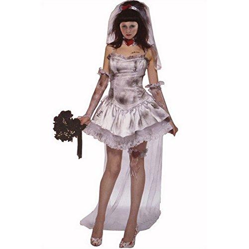Hölle Geister Braut Kleid Karneval Kostüm Grau Braut,Size (Bride Ghost Kostüme Erwachsene Damen)