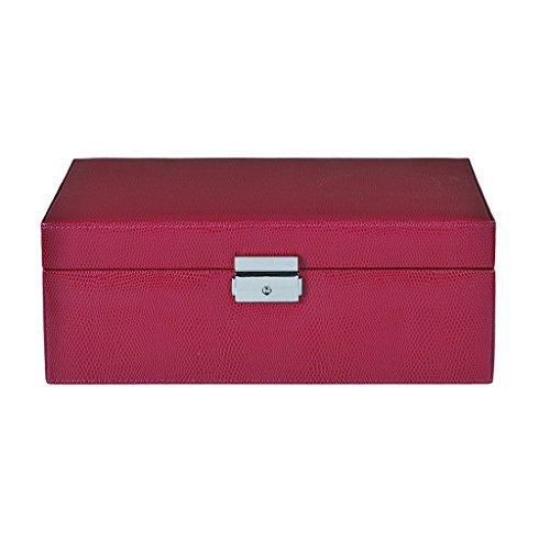hen Muttertagsgeschenk Jewelry Box Mädchen Schmuck Organizer Gespiegelt Mini Travel Case Abschließbar Leder 13 Zoll Schmuck Box Ring Box Aufbewahrungsbox Multifunktions-Box Portable ()