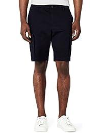 Marchio Amazon - MERAKI Cotton Slim Fit Cargo-Pantaloncini Uomo