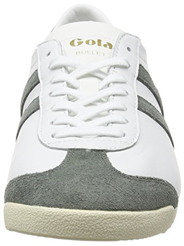 Gola Bullet Leather, Baskets Basses homme Blanc - White (White/Grey)