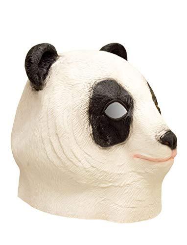 Luxuspiraten - Kostüm Accessoires Zubehör Tier Latex Maske Panda Bär Bear, perfekt für Karneval, Fasching und Fastnacht, Weiß