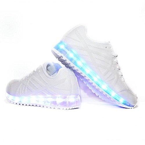 Envio-24-Horas-Usay-like-Zapatillas-LED-Con-7-Colores-Luces-Carga-USB-Blanco-Hombre-Mujer-Unisex-R-Talla-33-hasta-41-Envio-Desde-Espaa