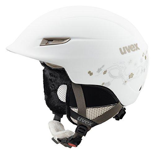 UVEX Damen Gamma WL Skihelm, White-Prosecco Mat, 53-57 cm