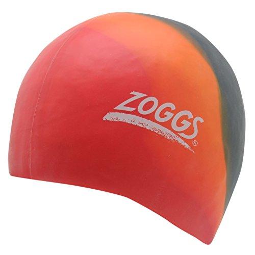 Zoggs Kinder Badekappe Silikon Rot/orange/blau -