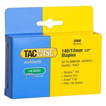 Tacwise 0348 Boîte de 2000 Agrafes galvanisées 12 mm Type 140