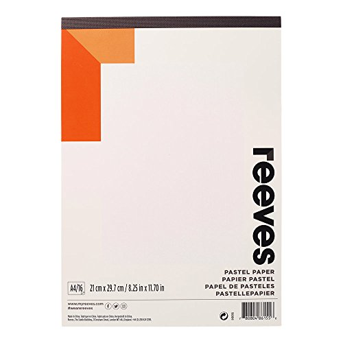 Reeves 8490956 Pastellblock - Pastellpapier - 16 Blatt 180g/m², hochwertiges Papier, lichtbeständig & alterungsbeständig - A4