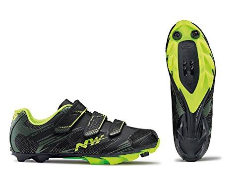 Northwave Scorpius 2 MTB Fahrrad Schuhe schwarz/grün/gelb 2018: Größe: 43