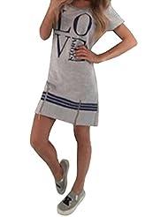 Kurzärmel Mini Kleid mit LOVE