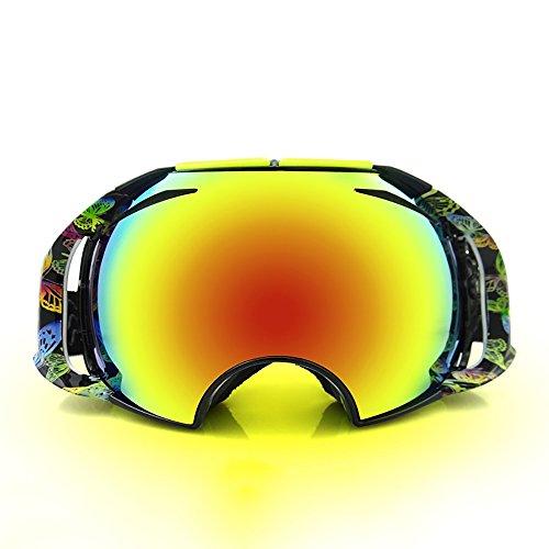Snowboard-schutzbrillen Polarisiert Bolle (Skibrille Objektiv Anti-Fog Schnee Brille Ski Snowboard Eyewear für Herren Damen Winter Schutzbrille Maske, Schwarz )