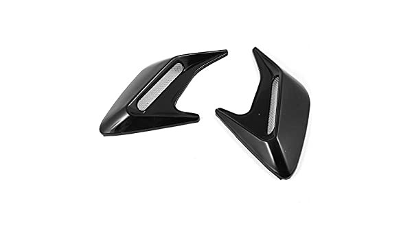 Little Sporter Car Exterior Wing Side Car Decorative Side Vent Air Flow Fender Intake Stickers Black 2/St/ück