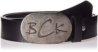 BCK Men's Leather Belt (8904133378987_20-20002K_Black_X-Large)