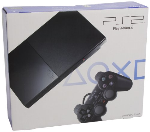 PlayStation 2 - PS2 Konsole Slim, black (inkl. Dual Shock Controller) (Pc-engine Cd)