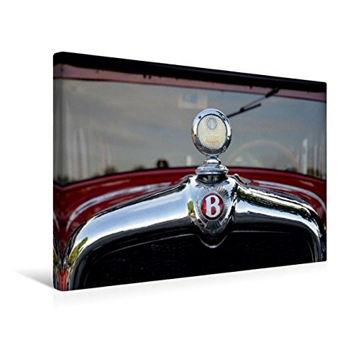 Premium Textil-Leinwand 45 cm x 30 cm quer, Oldtimer Kühler | Wandbild, Bild auf Keilrahmen, Fertigbild auf echter Leinwand, Leinwanddruck: Bentley (CALVENDO Mobilitaet) (Bentley-kühlerfigur)