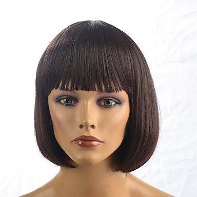 HJL-2015 femmes de la mode ombre naturelle droite brun chaleur janpanese r¨¦sistant cheveux synth¨¦tiques perruque 6367-2-33 12 \\