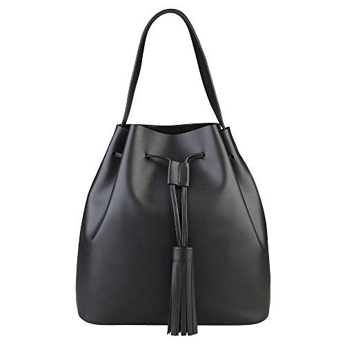 Made In Italia  Ester, Sac pour femme à porter à l'épaule noir