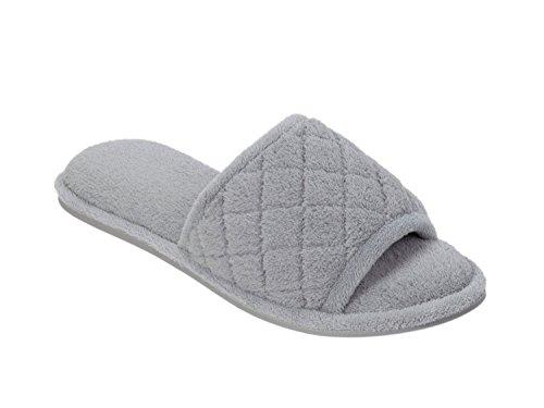 Dearfoams , Chaussons pour femme One Size gris moyen