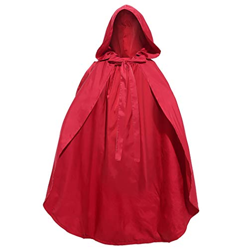 Kapmore Halloween Kapuzenumhang Rot Doppelschicht Mantel Cosplay Kostüm Für Mädchen