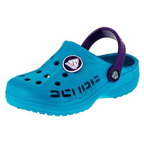 Kinder Clogs Badeschuhe Sandalen für Jungen und Mädchen in vielen Farben M211tüli Türkis Lila 31