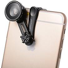 XCSOURCE 3 en 1 mini kit con objetivo, clip de la lente Infinitamente ajustable + 180 ° Ojo de Pez, 0.67X Lente Gran Angular, Macro para Teléfonos Móviles Universales tabletas XC309