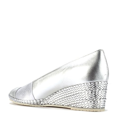 Elia B Shoes Pelloto Silver Wedge Pump Silver