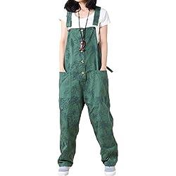 Vogstyle Femme ajusté Combinaison imprimé Salopettes Style-1 Vert