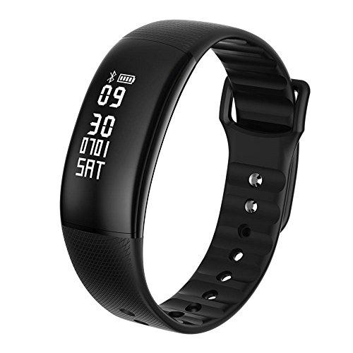 zhuotop Smart Watch Sports Digitale Herzfrequenz Monitor Smartwatch Herren Frauen Fitness Tracker Armbanduhr für iOS Android, Schwarz