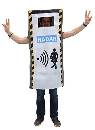 Foxxeo 40006 | Blitzerkostüm Radar Kostüm Radarfalle Blitzer Radarkostüm JGA Polizist Polizei Gr. M / L, (Für Schnecke Erwachsene Kostüm)