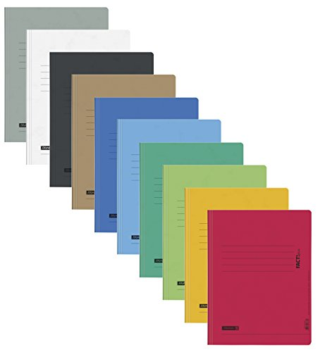 Brunnen Schnellhefter Papphefter 10 Farben extra stark 375g (10er Pack, Farb Mix)